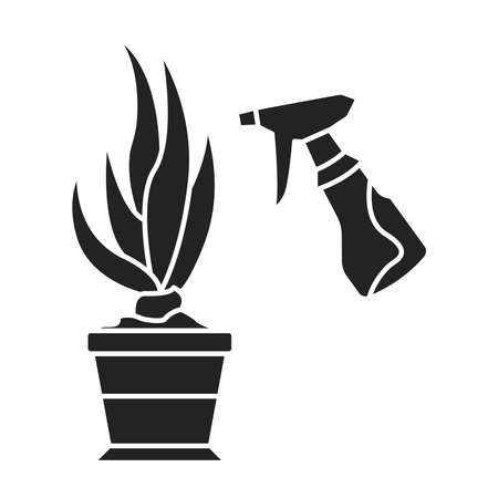 Washing and spraying black glyph icon. Pictogram for web page, mobile app, promo. UI UX GUI design element