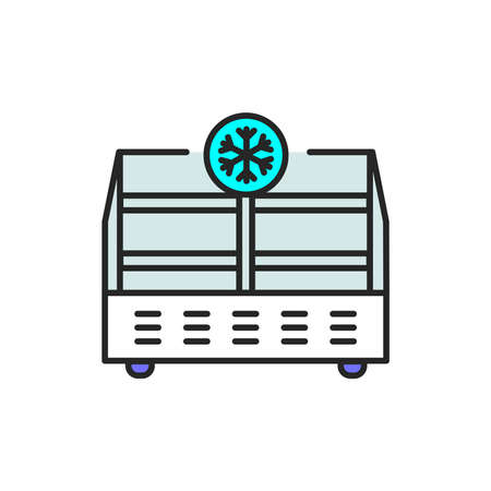 Freezer cold color line icon. Household equipment. Pictogram for web page, mobile app, promo. UI UX GUI design element. Editable stroke.