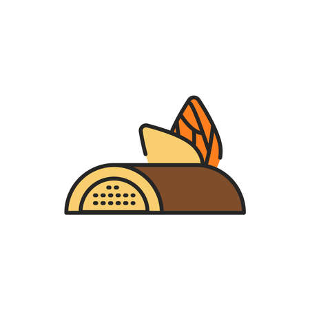 Marzipan bar color line icon. Isolated vector element. Outline pictogram for web page, mobile app, promo