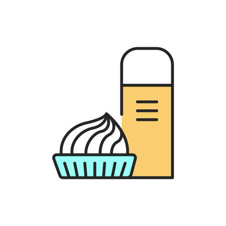 Cream color line icon. Isolated vector element. Outline pictogram for web page, mobile app, promo