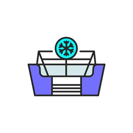Freezer cold color line icon. Household equipment. Pictogram for web page, mobile app, promo. UI UX GUI design element. Editable stroke.