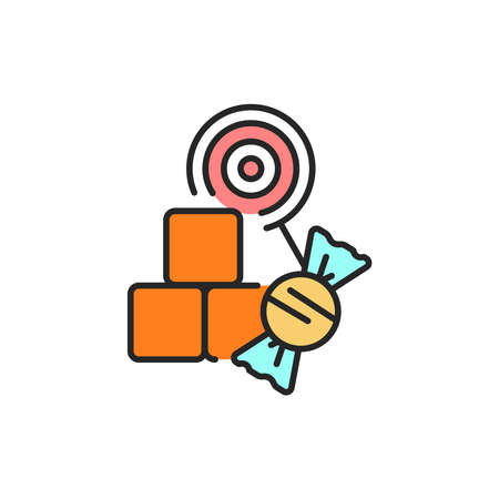 Sweets color line icon. Isolated vector element. Outline pictogram for web page, mobile app, promo Ilustrace