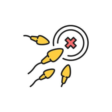 Infertility color line icon. Pictogram for web page, mobile app, promo. Editable stroke.
