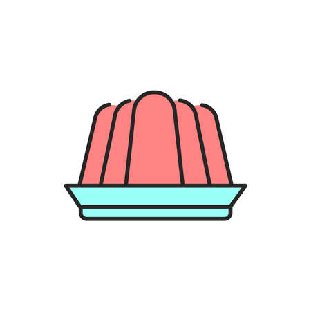 Gelee color line icon. Isolated vector element.