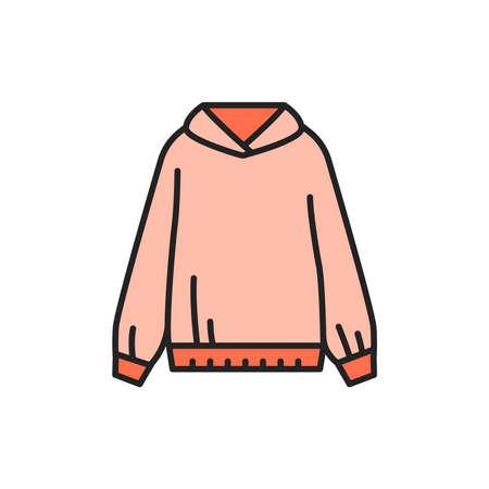 Sweatshirt color line icon. Pictogram for web page, mobile app, promo.
