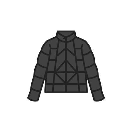 Jacket color line icon. Pictogram for web page, mobile app, promo.