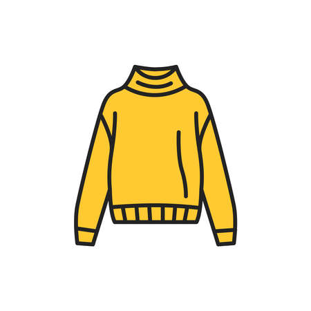 Sweater color line icon. Pictogram for web page, mobile app, promo.