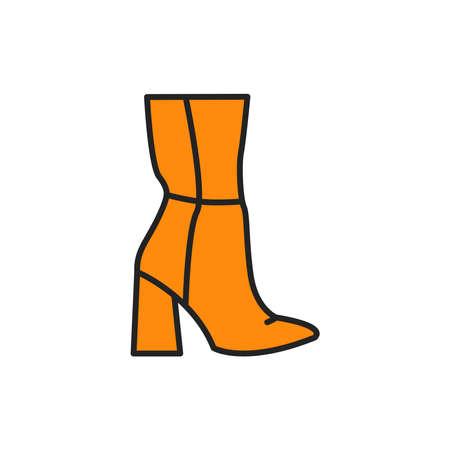 High heel boots color line icon. Pictogram for web page, mobile app, promo. Reklamní fotografie