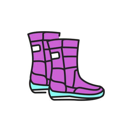 Winter boots color line icon. Pictogram for web page, mobile app, promo. Reklamní fotografie