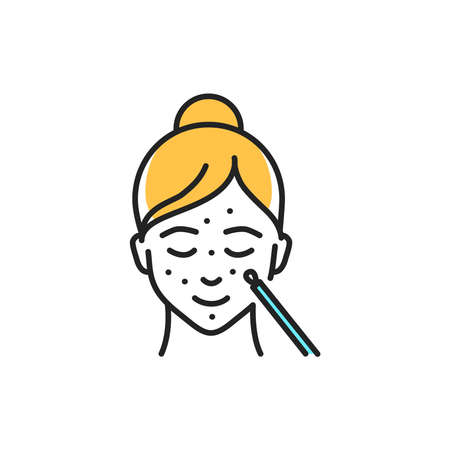 Mechanical face cleaning color line icon. Pictogram for web page, mobile app, promo.