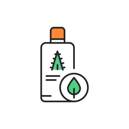 Organic aloe juice color line icon. Pictogram for web page, mobile app, promo. Ilustrace