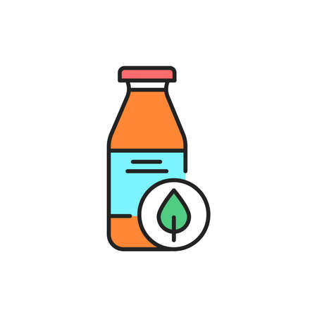 Organic juice color line icon. Pictogram for web page, mobile app, promo.