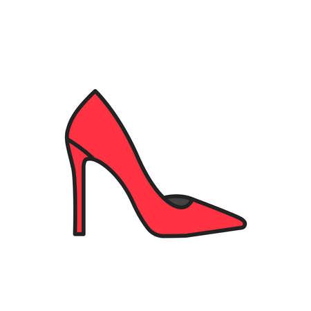 Pumps color line icon. Pictogram for web page, mobile app, promo.