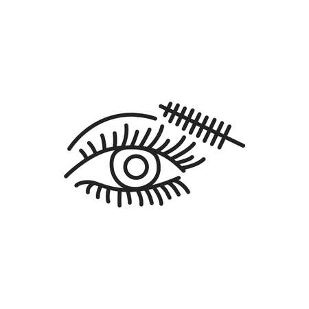 Dye eyelashes color line icon. Pictogram for web page, mobile app, promo. UI UX GUI design element. Editable stroke.
