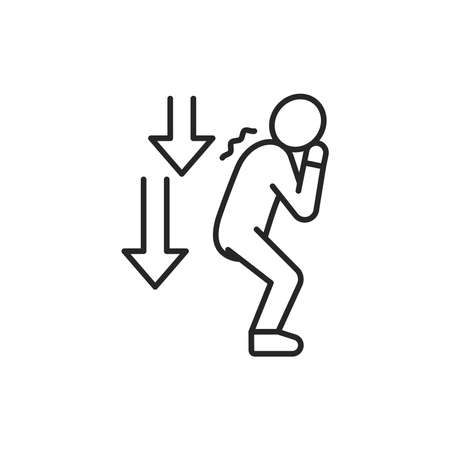 Decreased libido line color icon. Sign for web page, mobile app Vector Illustration