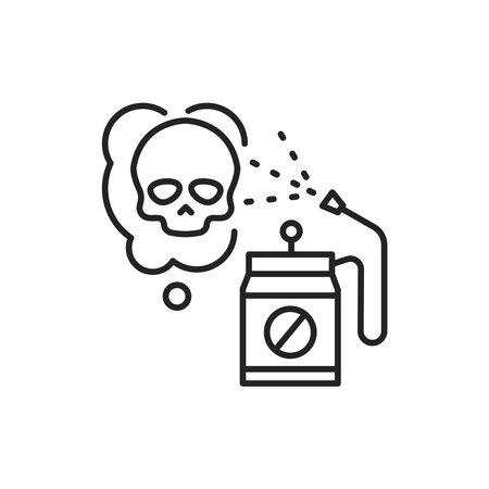 Pesticide color line icon. Pictogram for web page, mobile app, promo.