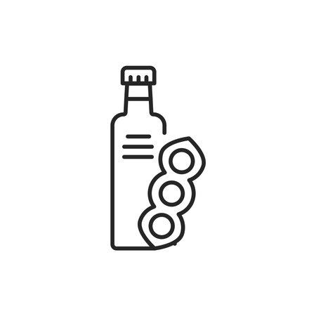 Soy vegetable oil glass bottle 向量圖像