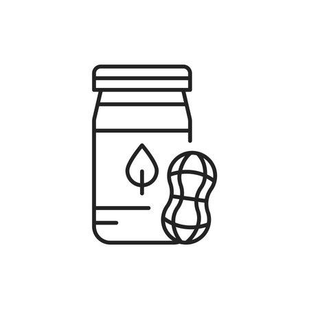 Organic peanut paste color line icon. Pictogram for web page, mobile app, promo.