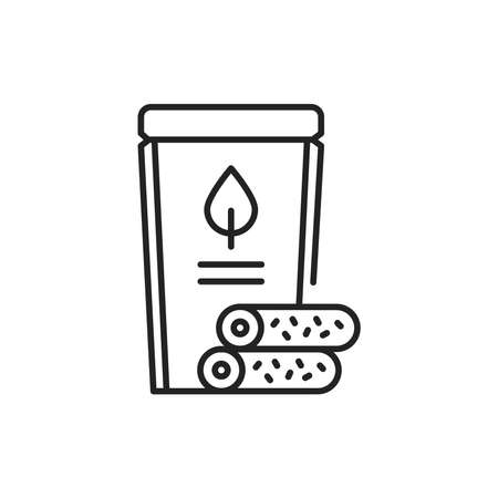 Organic natural fruit marshmallow color line icon. Pictogram for web page, mobile app, promo.
