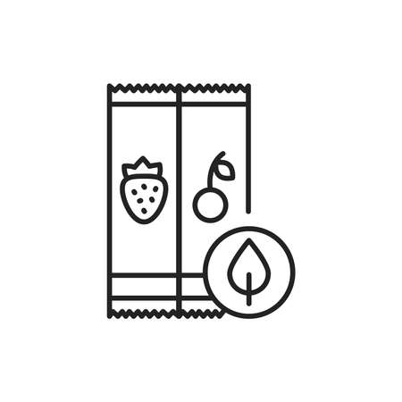 Organic fruit bars color line icon. Pictogram for web page, mobile app, promo.