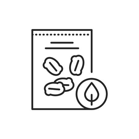 Oatmeal packaging color line icon. Pictogram for web page, mobile app, promo. 向量圖像