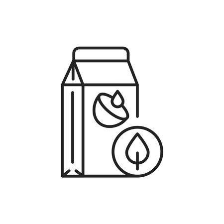 Organic coconut milk color line icon. Pictogram for web page, mobile app, promo.