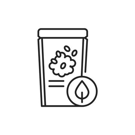 Packaging organic cereal color line icon. Pictogram for web page, mobile app, promo. 向量圖像