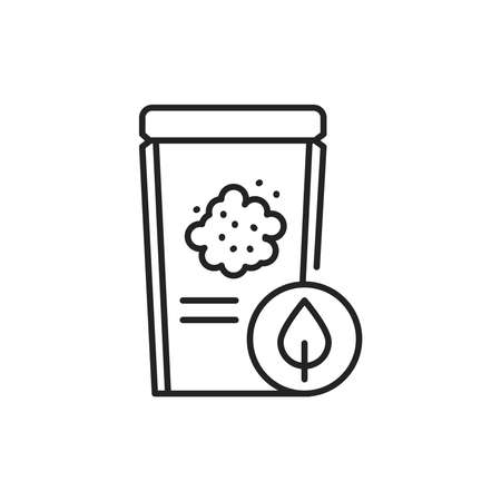 Packaging organic flax seeds color line icon. Pictogram for web page, mobile app, promo. 向量圖像