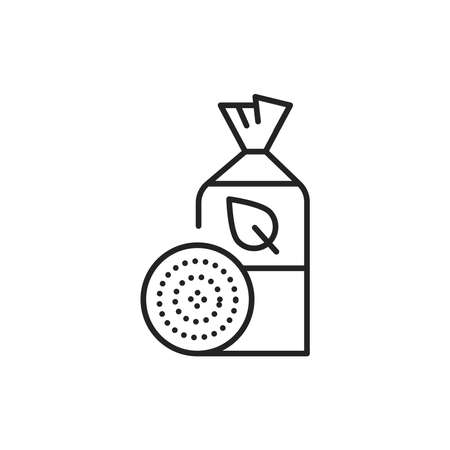 Packaging organic crispbread color line icon. Pictogram for web page, mobile app, promo. 向量圖像