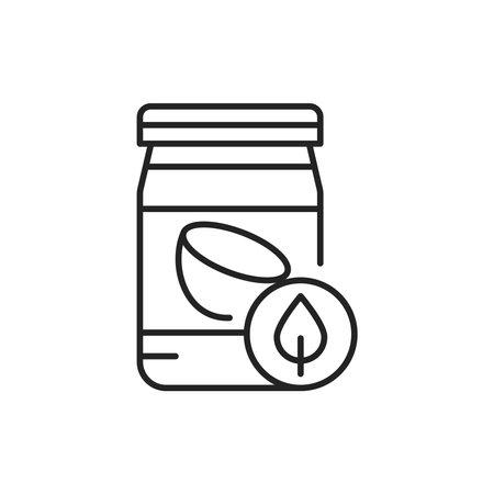 Organic coconut oil color line icon. Pictogram for web page, mobile app, promo.