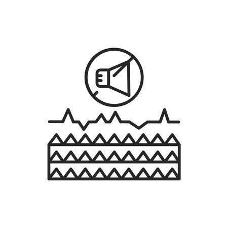 Soundproof material color line icon. Pictogram for web page, mobile app, promo. Editable stroke. Vektoros illusztráció