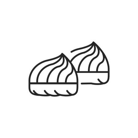 Marshmallow color line icon. Isolated vector element. Outline pictogram for web page, mobile app, promo