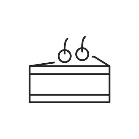 Cheesecake color line icon. Isolated vector element. Outline pictogram for web page, mobile app, promo