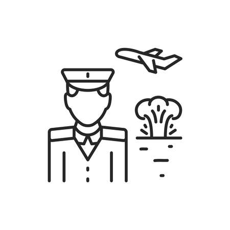 War emigrant color line icon. Sign for web page, mobile app, button, logo. Editable stroke.