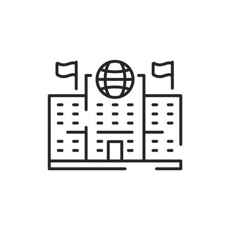 Migration Service color line icon. Sign for web page, mobile app, button, logo. Editable stroke.