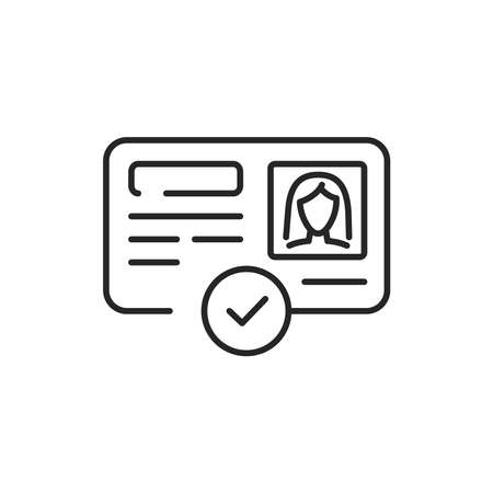 Approved passport color line icon. Sign for web page, mobile app, button, logo. Editable stroke.