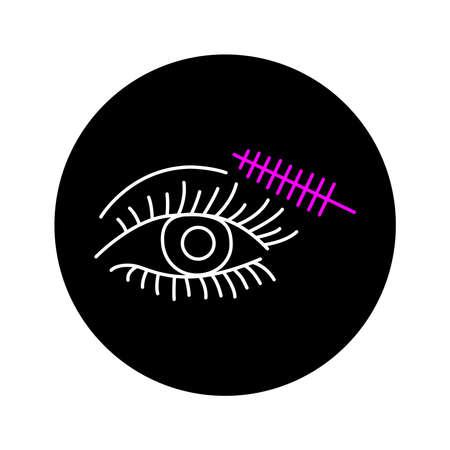 Dye eyelashes color line icon. Pictogram for web page, mobile app, promo. UI UX GUI design element. Editable stroke.