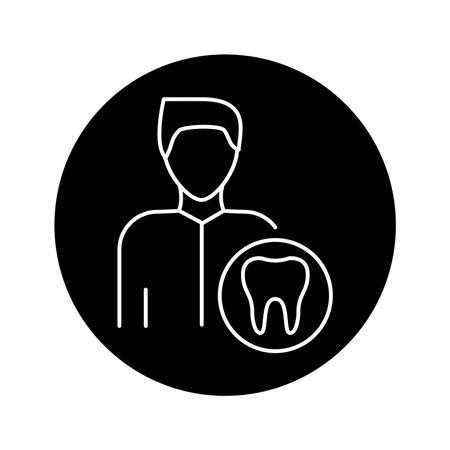 Dentist color line icon. Subject matter expert. Pictogram for web page, mobile app, promo. UI UX GUI design element. Editable stroke.