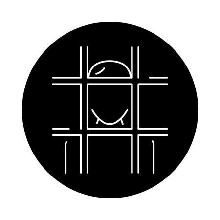 Prisoner color line icon. Sign for web page, mobile app, button, logo. Editable stroke. Logó