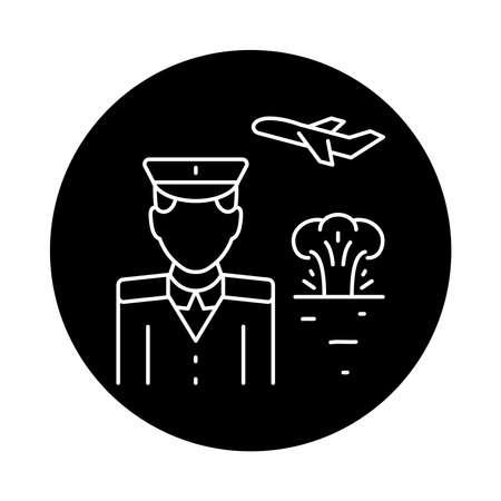 War emigrant color line icon. Sign for web page, mobile app, button, logo. Editable stroke. Logó