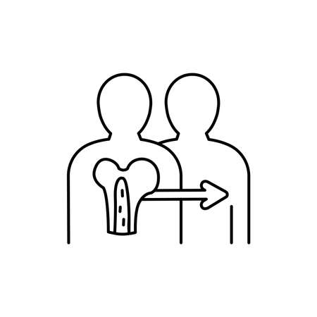 Bone marrow color line icon. Donor organ. Pictogram for web page, mobile app, promo. UI UX GUI design element. Editable stroke. Vector Illustration