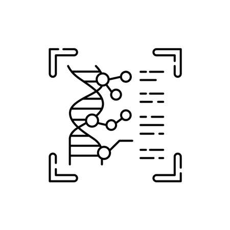 Dna identification olor line icon. ID and verifying person. Pictogram for web page, mobile app, promo. UI UX GUI design element. Editable stroke.