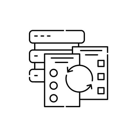 Data verification olor line icon. ID and verifying person. Pictogram for web page, mobile app, promo. UI UX GUI design element. Editable stroke.