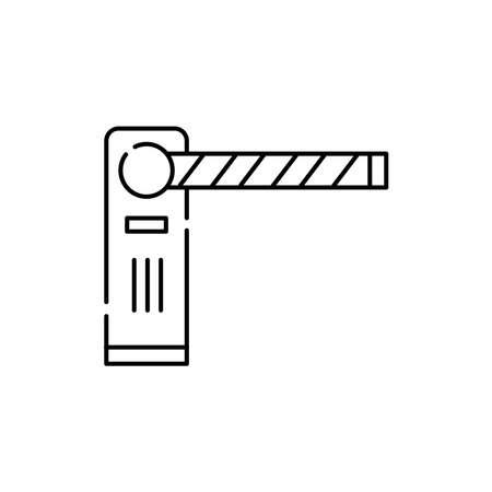 Gate pass the car olor line icon. Pictogram for web page, mobile app, promo. UI UX GUI design element. Editable stroke.