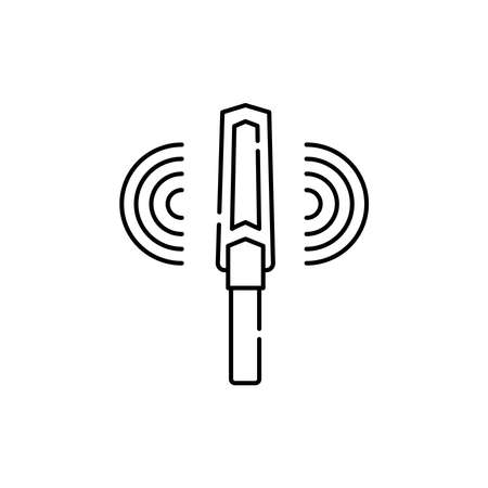 Metal detector olor line icon. Pictogram for web page, mobile app, promo. UI UX GUI design element. Editable stroke.