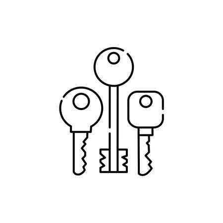 Keys olor line icon. Pictogram for web page, mobile app, promo. UI UX GUI design element. Editable stroke.