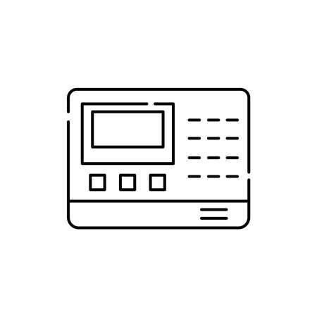 Signaling olor line icon. Pictogram for web page, mobile app, promo. UI UX GUI design element. Editable stroke.