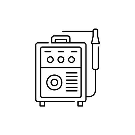 Welding machine olor line icon. Pictogram for web page, mobile app, promo. UI UX GUI design element. Editable stroke. 向量圖像