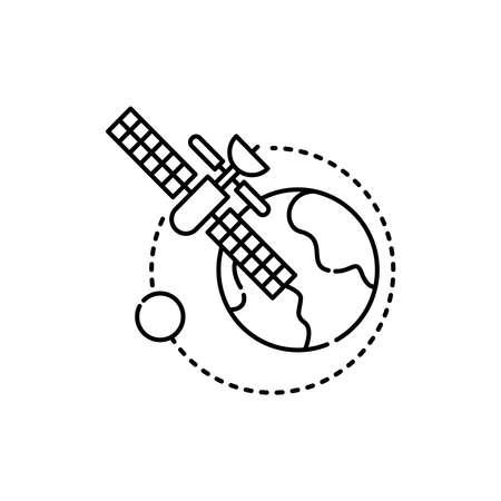 Aeronautics olor line icon. Pictogram for web page, mobile app, promo. UI UX GUI design element. Editable stroke.