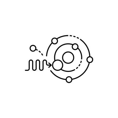 Photonics olor line icon. Pictogram for web page, mobile app, promo. UI UX GUI design element. Editable stroke. 向量圖像